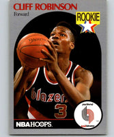 1990-91 Hoops #250 Clifford Robinson RC Rookie Blazers NBA Basketball