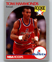 1990-91 Hoops #298 Tom Hammonds RC Rookie Bullets NBA Basketball