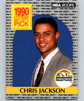 1990-91 Hoops #392 Chris Jackson RC Rookie Nuggets NBA Basketball