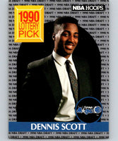 1990-91 Hoops #393 Dennis Scott RC Rookie Magic NBA Basketball