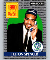 1990-91 Hoops #395 Felton Spencer RC Rookie Timberwolves NBA Basketball