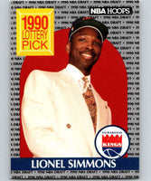 1990-91 Hoops #396 Lionel Simmons RC Rookie Sac Kings NBA Basketball