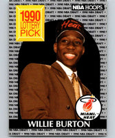 1990-91 Hoops #398 Willie Burton RC Rookie Heat NBA Basketball
