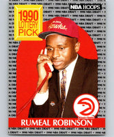 1990-91 Hoops #399 Rumeal Robinson RC Rookie Hawks NBA Basketball