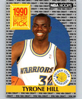 1990-91 Hoops #400 Tyrone Hill RC Rookie Warriors NBA Basketball
