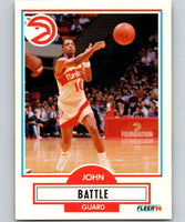 1990-91 Fleer #1 John Battle Hawks UER NBA Basketball