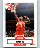 1990-91 Fleer #3 Moses Malone Hawks NBA Basketball