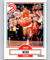 1990-91 Fleer #5 Spud Webb Hawks NBA Basketball