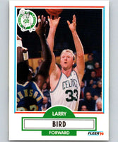 1990-91 Fleer #8 Larry Bird Celtics NBA Basketball