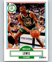 1990-91 Fleer #11 Reggie Lewis Celtics NBA Basketball