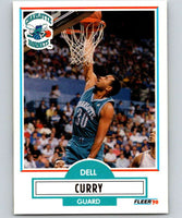 1990-91 Fleer #18 Dell Curry Hornets NBA Basketball