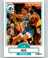 1990-91 Fleer #20 J.R. Reid RC Rookie Hornets NBA Basketball