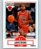1990-91 Fleer #22 B.J. Armstrong RC Rookie Bulls NBA Basketball