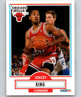 1990-91 Fleer #27 Stacey King RC Rookie Bulls NBA Basketball