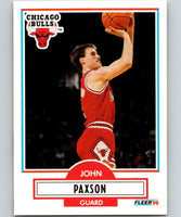 1990-91 Fleer #28 John Paxson Bulls NBA Basketball
