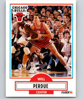1990-91 Fleer #29 Will Perdue Bulls NBA Basketball