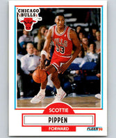 1990-91 Fleer #30 Scottie Pippen Bulls NBA Basketball