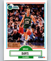 1990-91 Fleer #40 Brad Davis Mavericks NBA Basketball