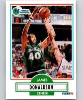 1990-91 Fleer #41 James Donaldson Mavericks UER NBA Basketball