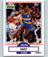1990-91 Fleer #47 Walter Davis Nuggets NBA Basketball