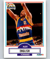1990-91 Fleer #48 Alex English Nuggets UER NBA Basketball