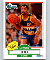 1990-91 Fleer #50 Lafayette Lever Mavericks UER NBA Basketball