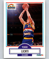 1990-91 Fleer #51 Todd Lichti RC Rookie Nuggets NBA Basketball