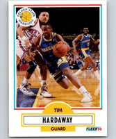 1990-91 Fleer #63 Tim Hardaway RC Rookie Warriors NBA Basketball