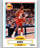 1990-91 Fleer #69 Anthony Bowie RC Rookie Rockets NBA Basketball