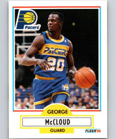 1990-91 Fleer #77 George McCloud RC Rookie Pacers NBA Basketball
