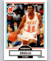 1990-91 Fleer #98 Sherman Douglas RC Rookie Heat NBA Basketball