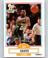1990-91 Fleer #104 Jeff Grayer RC Rookie Bucks NBA Basketball