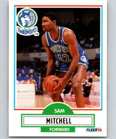 1990-91 Fleer #114 Sam Mitchell RC Rookie Timberwolves NBA Basketball