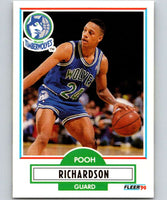 1990-91 Fleer #116 Pooh Richardson RC Rookie Timberwolves NBA Basketball