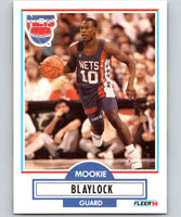 1990-91 Fleer #117 Mookie Blaylock RC Rookie NJ Nets NBA Basketball
