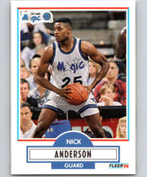 1990-91 Fleer #132 Nick Anderson RC Rookie Magic NBA Basketball