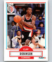 1990-91 Fleer #159 Clifford Robinson RC Rookie Blazers NBA Basketball