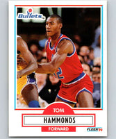 1990-91 Fleer #193 Tom Hammonds RC Rookie Bullets NBA Basketball