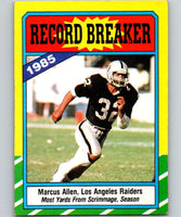 1986 Topps #1 Marcus Allen LA Raiders RB NFL Football