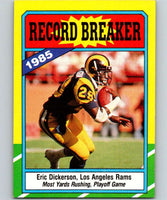 1986 Topps #2 Eric Dickerson LA Rams RB NFL Football