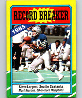 1986 Topps #4 Steve Largent Seahawks RB NFL Football