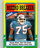 1986 Topps #5 George Martin NY Giants RB NFL Football
