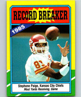 1986 Topps #6 Stephone Paige Chiefs RB NFL Football