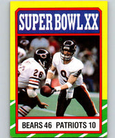 1986 Topps #8 Super Bowl XX Bears NFL Football