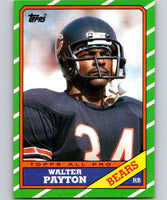 1986 Topps #11 Walter Payton Bears NFL Football