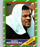 1986 Topps #15 Emery Moorehead Bears NFL Football