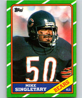 1986 Topps #24 Mike Singletary Bears NFL Football