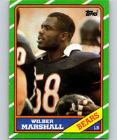 1986 Topps #25 Wilber Marshall RC Rookie Bears NFL Football