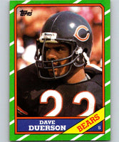 1986 Topps #27 Dave Duerson RC Rookie Bears NFL Football