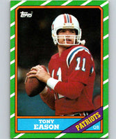1986 Topps #30 Tony Eason Patriots NFL Football